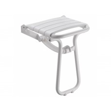 PELLET felhajtható zuhanyszék, szinterezett alumínium, PP ülőfelület