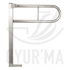 GYUR'MA rozsdamentes felhajtható padlós U alakú kapaszkodó, 600 mm