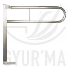 GYUR'MA rozsdamentes felhajtható padlós U alakú kapaszkodó, 800 mm